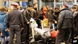 Security at Moscow airport after bombing (file photo)