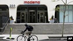 Trụ sở công ty Moderna tại Cambridge, Massachusetts.