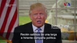 Trump pide sanar las heridas de la campaña