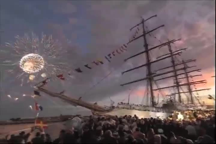 Fiesta por llegada de fragata Libertad