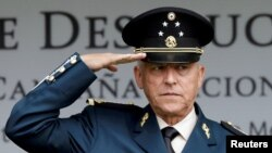 FILE - Mexico's former Defense Minister General Salvador Cienfuegos attends an event at a military zone in Mexico City, Mexico, Sept. 2, 2016.