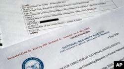 Ambasador Ričard Grenel skinuo je oznaku poverljivo sa dokumenta sa imenima zvaničnika administracije predsednika Obame koji su zahtevali otkrivanje imena Majkla Flina. Dokument je fotografisan 13. maja 2020.