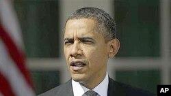 13일 백악관 정원에서 바락 오바마 미 대통령.
