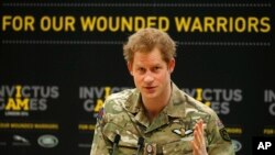 Pangeran Harry luncurkan Invictus Games.
