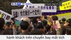 Thân nhân hành khách chuyến bay MH370 biểu tình (VOA60)