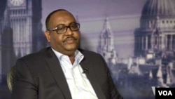 Newly-elected president of Somalia's Puntland region, Saed Abdullahi Deni, is seen in a screen grab from video during a recent interview with VOA's Somali Service in London.