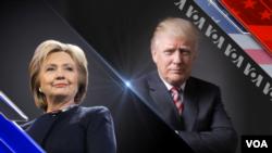 Trump and Clinton Graphic