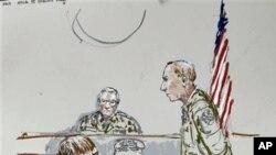 莫洛克(左)因殺害阿富汗平民被判24年徒刑