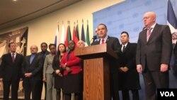 Durante su estancia en la ONU, el canciller del gobierno en disputa de Venezuela, Jorge Arreaza, se reunió con el secretario general, Antonio Guterres y representantes de países aliados.