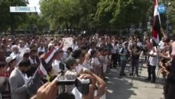 İstanbul'daki Yemenliler Birleşik Arap Emirlikleri'ni Protesto Etti