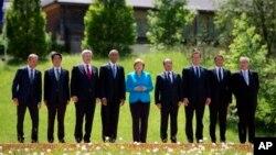 Главы государств «Большой семерки» на саммите в Эльмау