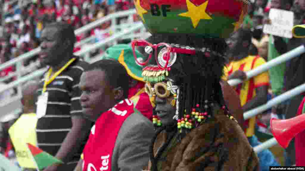 A fan from Burkina Faso in Bata