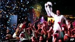 2022 Dünya Kupası'na evsahipliği yapma hakkını kazanan Katarlılar karara böyle sevinmişti