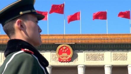 一年一度的两会在北京的人民大会堂举行。(美国之音东方拍摄)