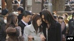 Эвакуированные в центральном парке Токио
