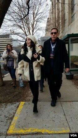 Cher di Women's March di Washington D.C., 21 Januari 2017.