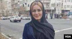 مریم شریعتمداری از معترضان به حجاب اجباری که مدتی پیش بازداشت شده بود و اکنون دوباره بازداشت شده است.