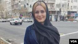 مریم شریعتمداری فعال مخالف حجاب اجباری که پنجشنبه شب در شهرری بازداشت شده بود