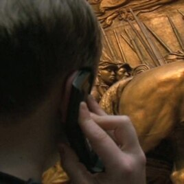 Digital technology gives National Gallery of Art visitor Max Gordy, 11, more options as he listens to an audio tour.