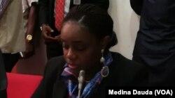 La ministre des Finances du Nigeria, Kemi Adeosun lors d'une réunion à Abuja, Nigeria, 3 octobre 2017.