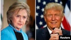 Ứng cử viên tổng thống của Đảng Dân chủ Hillary Clinton (trái) và ứng cử viên tổng thống của Đảng Cộng hòa Donald Trump (phải).