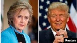 Ứng cử viên tổng thống Đảng Dân chủ Hillary Clinton (trái) và ứng cử viên sắp được Đảng Cộng hòa đề cử tổng thống Donald Trump