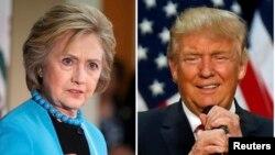 힐러리 클린턴(왼쪽) 민주당 대통령 후보와 도널드 트럼프 공화당 후보.