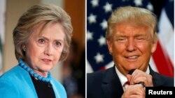 克林頓(左)與川普(右)