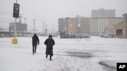 Sneg i jak vetar u Nju Džerziju