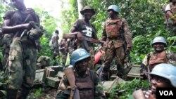 Des Casques bleus de la Monusco à Beni, dans le nord-est de la RDC.