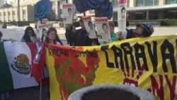 Vigilia por estudiantes desaparecidos en Mexico