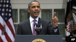 President Obama speaks on immigration at the White House Jun 15, 2012