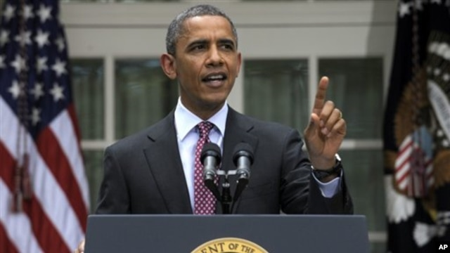 President Obama speaks on immigration at the White House Jun 15, 2012