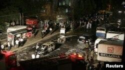 Спецслужбы работают на месте взрыва. Газиантеп, Турция