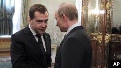 نومنتخب روسی صدر پوٹن اور وزیراعظم میدویدف