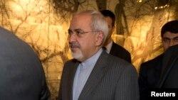 Le ministre des Affaires étrangères iranien Mohammad Javad Zari à Genève. Nov. 9, 2013.