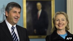 Хиллари Клинтон и Михаэль Шпинделеггер