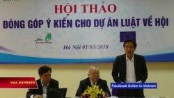 Việt Nam xem lại dự luật về lập hội