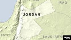 Carte de la Jordanie.