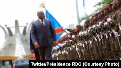 Le président Felix Tshisekedi à la cérémonie de voeux de nouvel an au Palsi de la Nation, Kinshasa, RDC, le 30 janvier 2020. (Twitter / RDC Présidence)