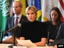 "Ivanka Trump addresses the event ""A Call to Action to End Forced Labour, Modern Slavery and Human Trafficking"" on Sept. 19, 2017 at the United Nations in New York."