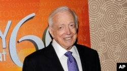 FILE - Hugh Downs attends the Today show 60th anniversary celebration in New York, Jan. 12, 2012.