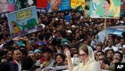 Khaleda Zia, lors d'un meeting de l'ancienne Première ministre, Dacca, Bangladesh, le 30 janvier 2012.