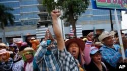 泰国反政府抗议者举行示威活动