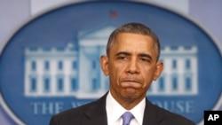 건강보험개혁법안에 대해 설명하고 있는 오바마 대통령