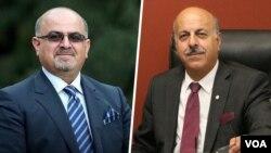 قاسم شعله سعدی (راست) و آرش کیخسروی وکلای دادگستری