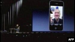 """Vlasnik """"Epla"""" Stiv Džobs predstavlja novu aplikaciju """"fejstajm"""" koja omogućuje tzv. videofon komunikaciju"""