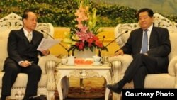 海基会董事长林中森和中国政协主席贾庆林进行会晤(照片来源:海基会)
