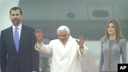 教皇本笃十六世周六抵达西班牙