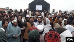 Protest and strike against recent target killings in MirAli, North Waziristan.